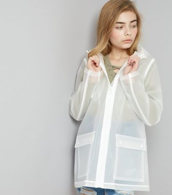 Teens White Hooded Anorak