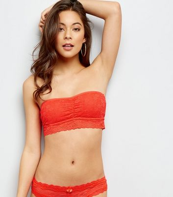 Red Halenka Lace Bandeau