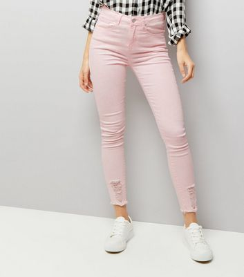 Mid Pink Ripped Skinny Jenna Jeans