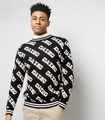 Black Dazed Knitted Jumper
