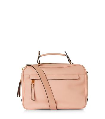 Light Pink Shoulder Luggage Bag