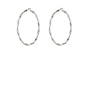 Silker Twisted Hoop Earrings