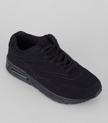 Black Textured Sole Trainers