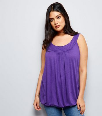 Curves Purple Bubble Hem Vest
