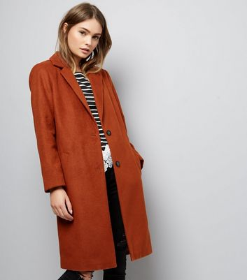Tan Button Front Coat