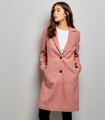 Pink Button Front Coat