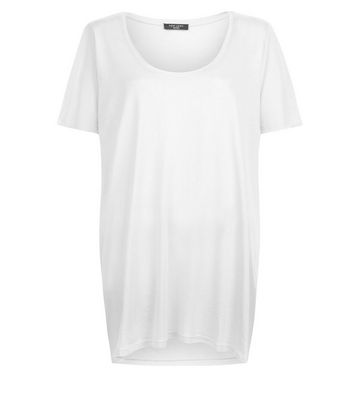 Curves White Scoop Neck T-Shirt