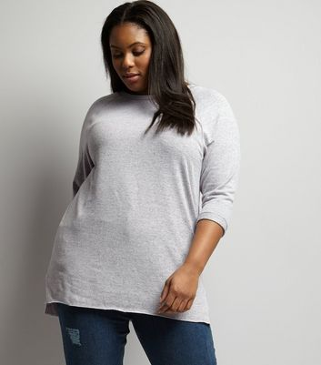 Curves Lilac 3/4 Sleeve Tunic
