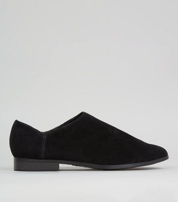 Black Suede High Vamp Shoes