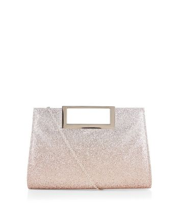 Gold Glitter Metal Handle Bag
