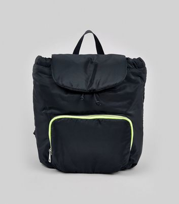 Black Neon Zip Backpack