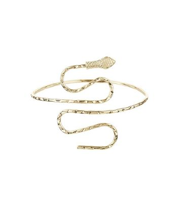 Gold Textured Snake Arm Cuff