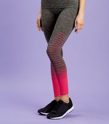Bright Pink Ombre Seamless Sports Leggings