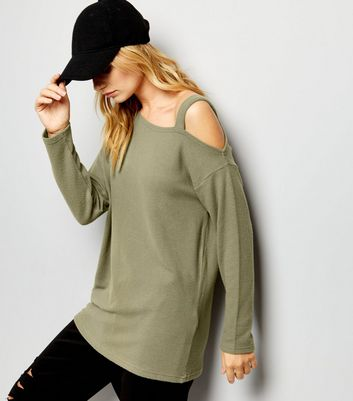 Olive Green Off the Shoulder Top