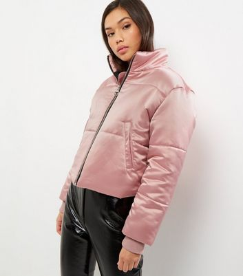 Womens Cropped Satin Puffer Jacket New Look Pictures Sale Online Dvxk3qSUL1