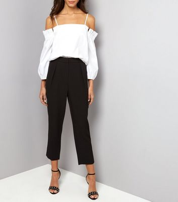 Black Pleat Front Trousers