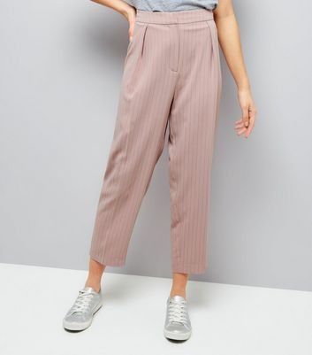 Mid Pink Pinstripe Trousers