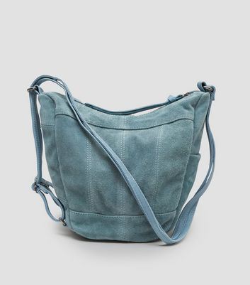 Blue Suede Hobo Backpack