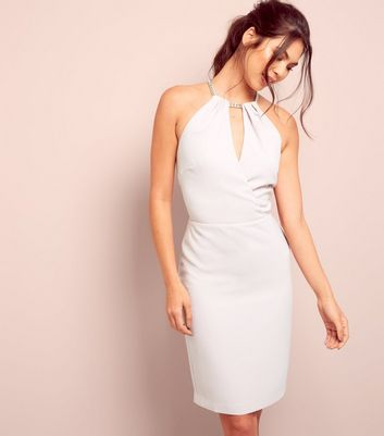 Light Purple Wrap Front Bodycon Dress