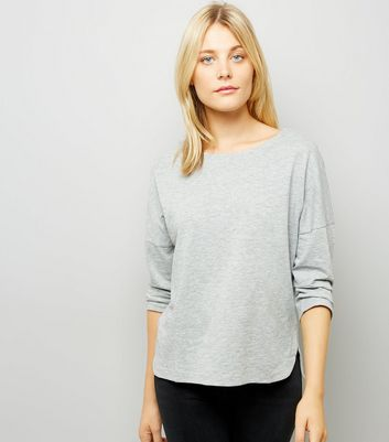 Grey Marl 3/4 Sleeve Top