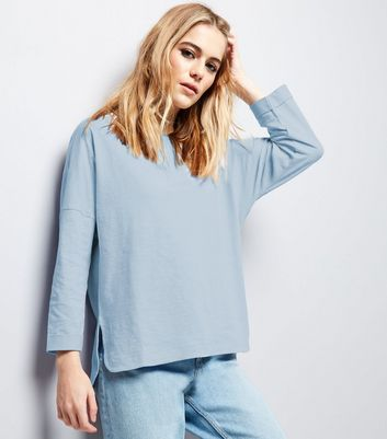 Pale Blue 3/4 Sleeve Top