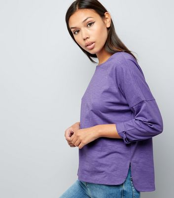 Purple 3/4 Sleeve Top