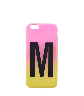 Pink and Yellow Ombre M Initial Phone Case