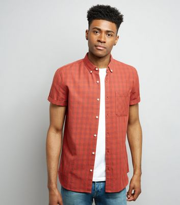 Red Check Short Sleeve Shirt