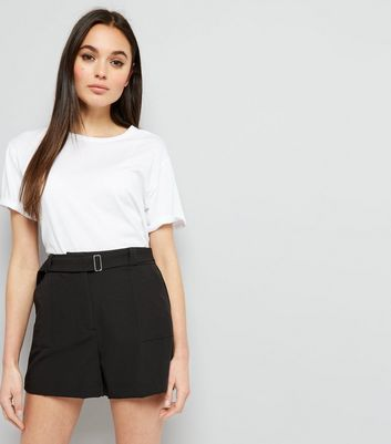 Black D Ring Buckle Shorts