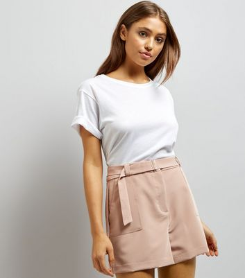 Shell Pink D Ring Buckle Shorts