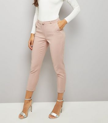 Pink Premium Cropped Suit Trousers