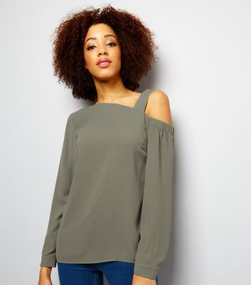 Khaki Off the Shoulder Top