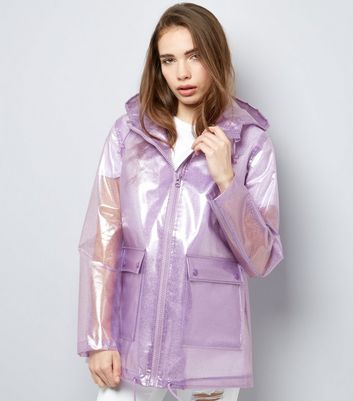 Lilac Glitter Hooded Anorak
