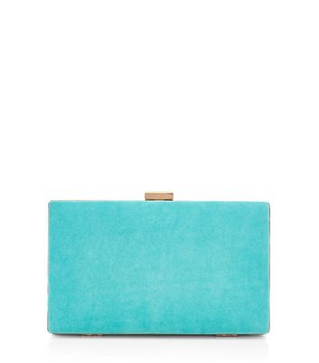 Turquoise Blue Box Clutch
