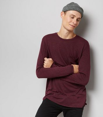 Burgundy Fine Knit Pocket Front Jumper