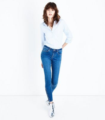 Blue Lattice Skinny Jenna Jeans