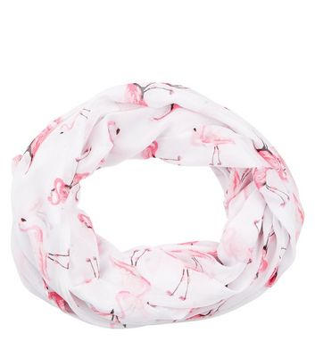 White Flamingo Print Snood