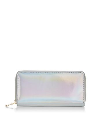 Silver Holographic Purse