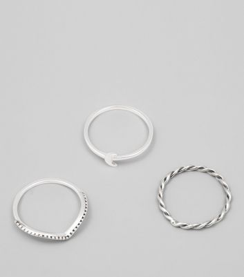 3 Pack Sterling Silver Stacking Rings