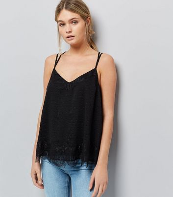 Black Lace Cami Top
