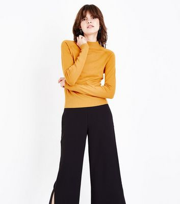 Mustard Yellow Funnel Neck Jumper
