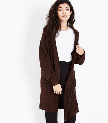 Brown Balloon Sleeve Cardigan