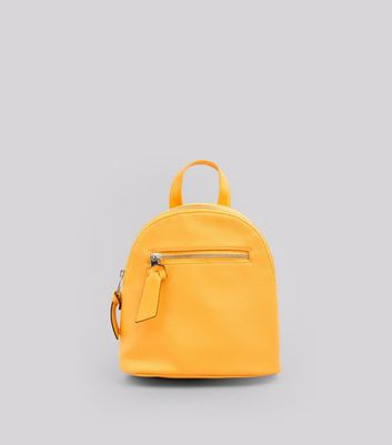 Yellow Curved Top Mini Backpack