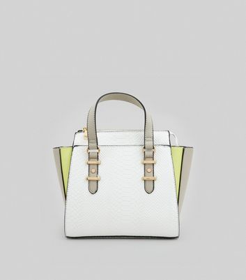 White Neon Trim Tote Bag
