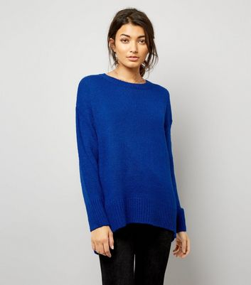 Blue Longline Jumper