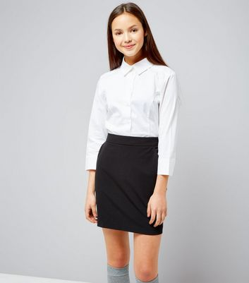 Teens Navy High Waist Skirt