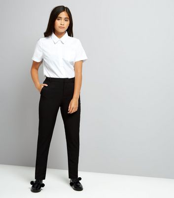 Teens Black Slim Leg Trousers