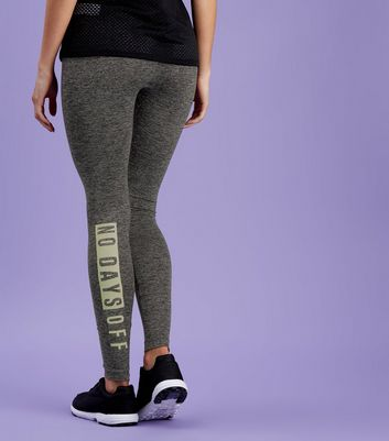 Legging de sport gris foncé No Days Off
