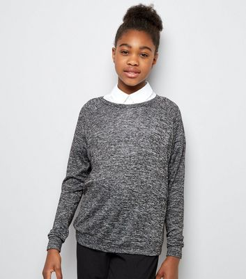 Teens Grey Long Sleeve Jumper