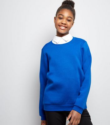 Teens Blue Crew Neck Jumper